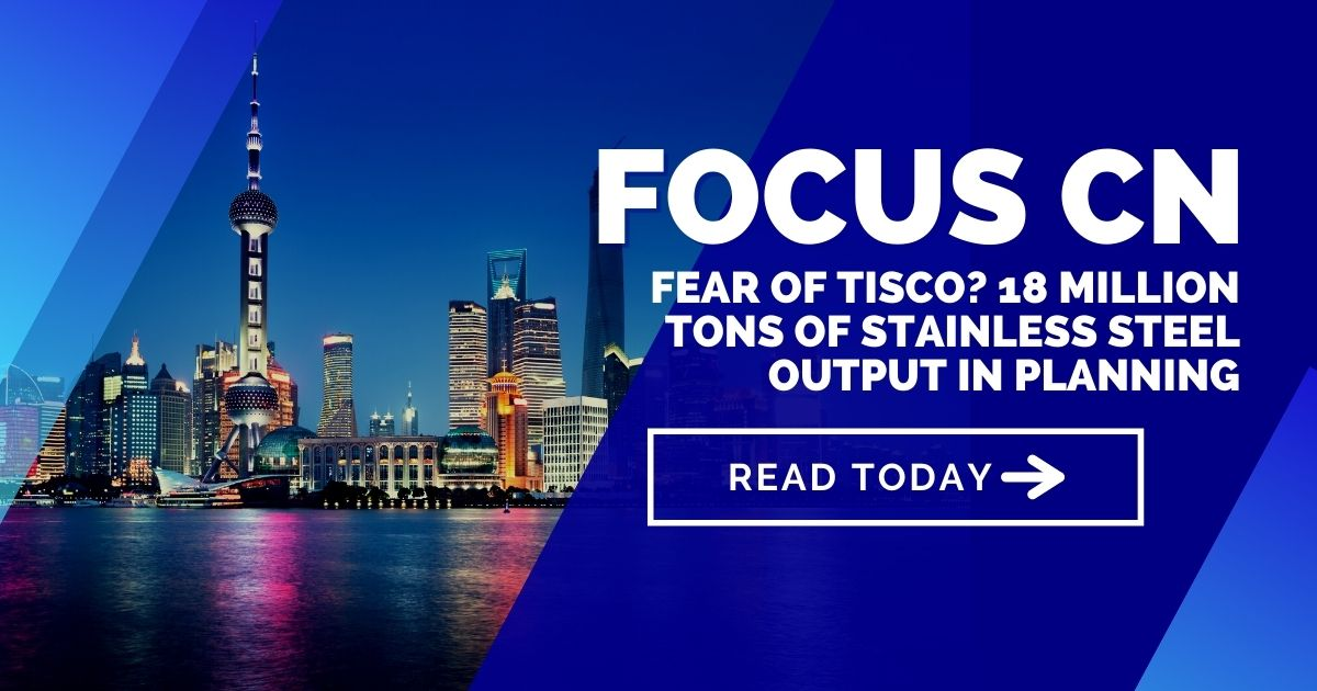 Fear of TISCO? 18 million tons of stainless steel output in planning