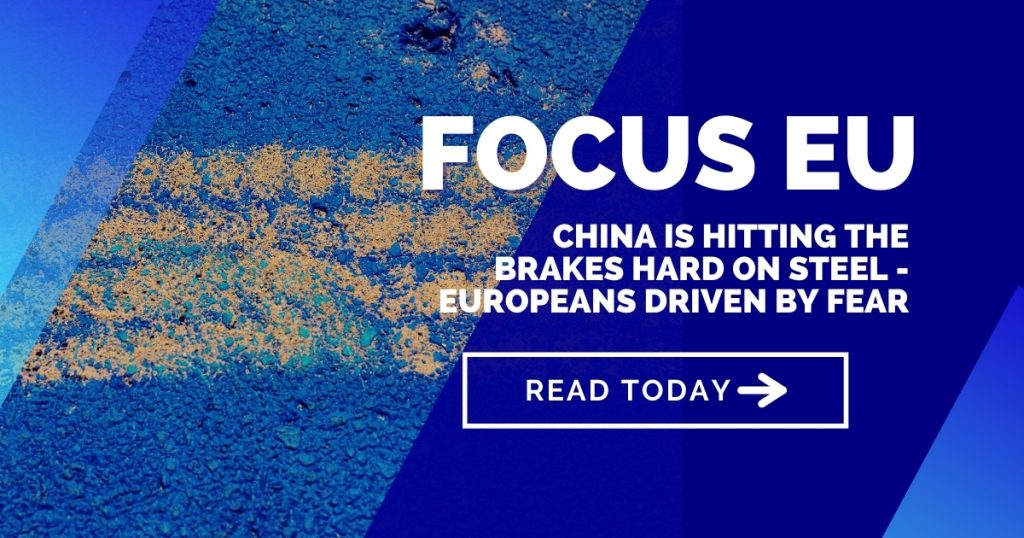 China is hitting the brakes hard on steel - Europeans driven by fear