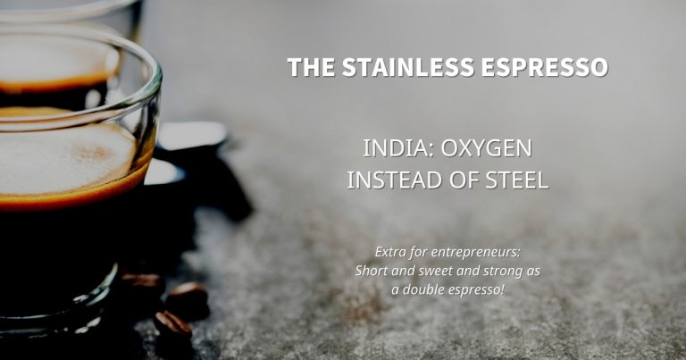 Stainless Espresso: India: Oxygen instead of steel