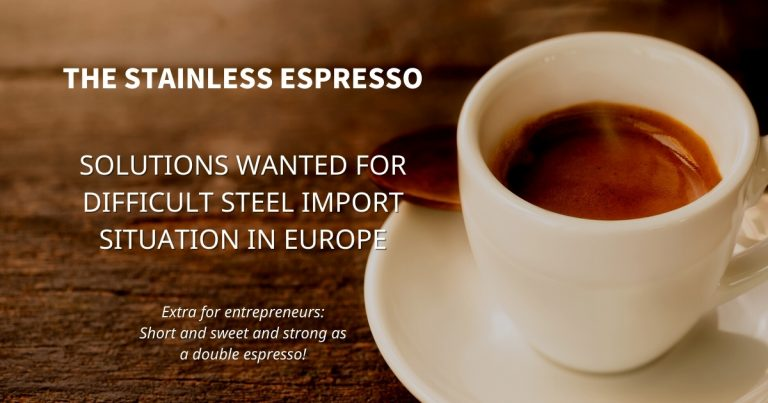 Stainless Espresso: Solutions wanted for difficult steel import situation in EU