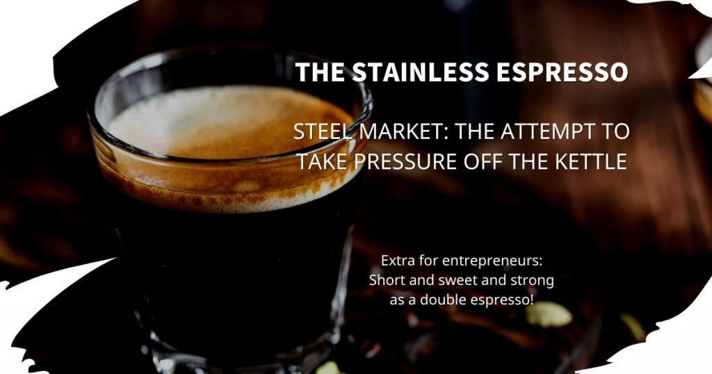 Stainless Espresso: The attempt to take pressure off the steel kettle