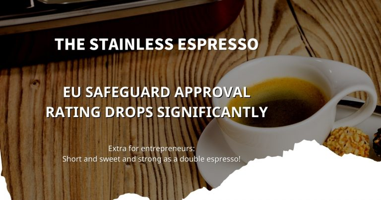 Stainless Espresso: EU Safeguard approval rating drops significantly
