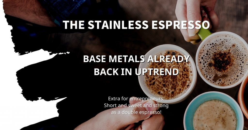 Stainless Espresso: Base metals already back in uptrend