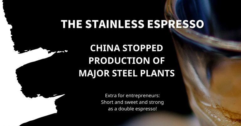 Stainless Espresso: China stopped production of major steel plants