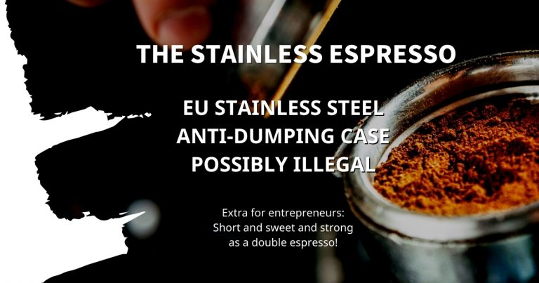 Stainless Espresso: EU stainless steel anti-dumping case possibly illegal