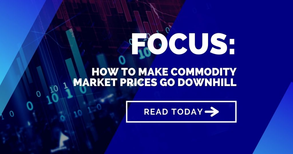 Focus: How to make commodity market prices go downhill
