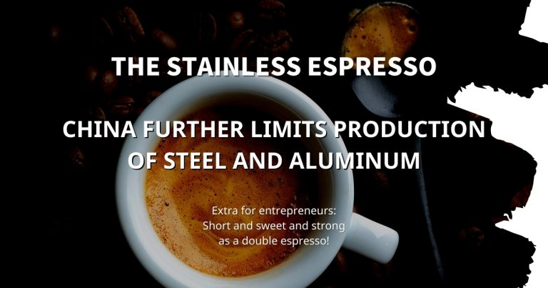 Stainless Espresso: China further limits production of steel and aluminum