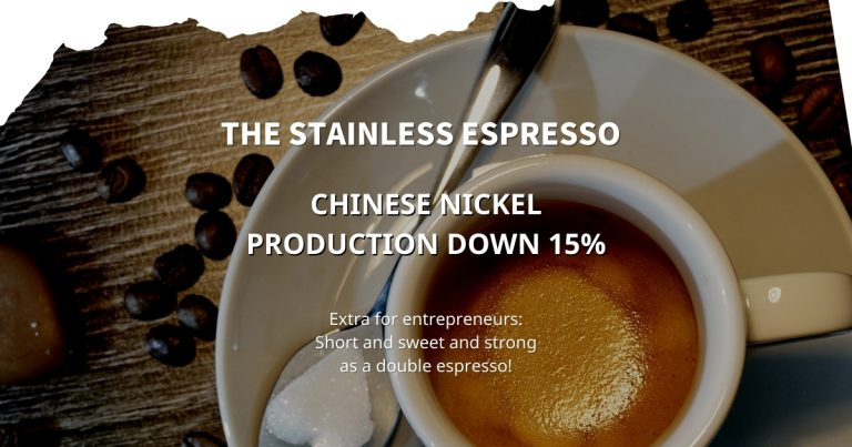 Stainless Espresso: Chinese nickel production down 15%