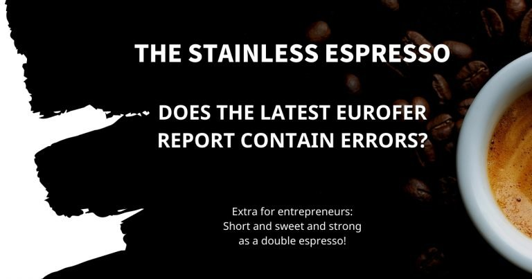 Stainless Espresso: Does the latest Eurofer report contain errors?