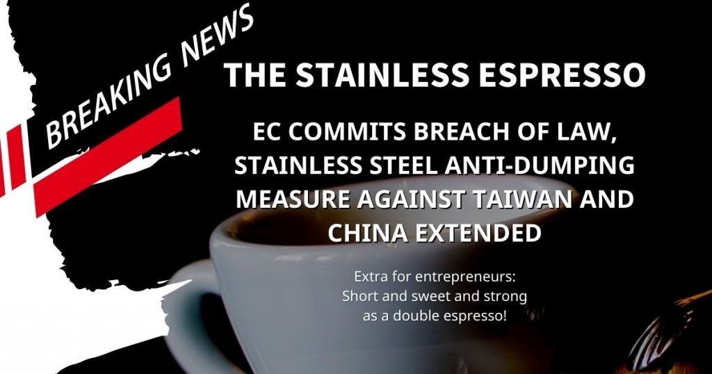 Breaking News EC commits breach of law stainless steel anti dumping measure against Taiwan and China extended 1200x630 1