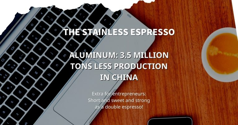Aluminum: 3.5 million tons less production in China