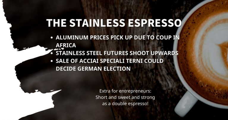 Stainless Espresso: Aluminum prices pick up due to coup in Africa