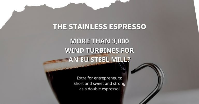 Stainless Espresso: More than 3,000 wind turbines for an EU steel mill?