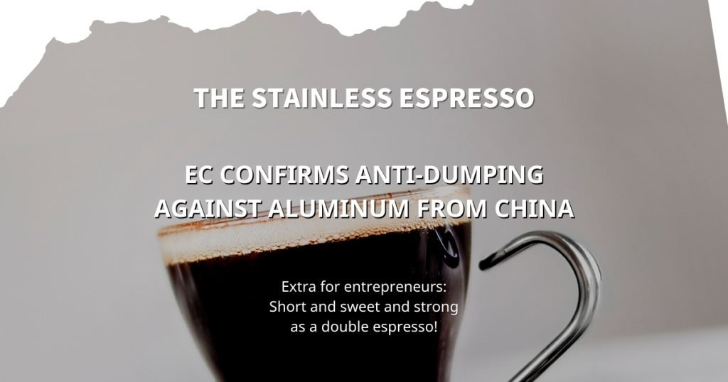 EC confirms anti-dumping against aluminum from China